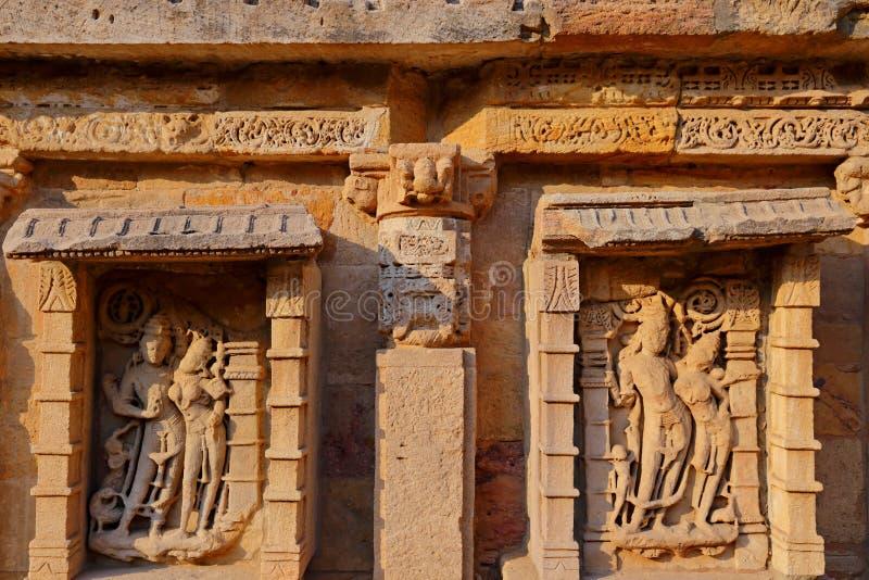 Ranien ki vav, een stepwell op de banken van Saraswati-Rivier in Patan Een Unesco-plaats van de werelderfenis in India royalty-vrije stock foto's