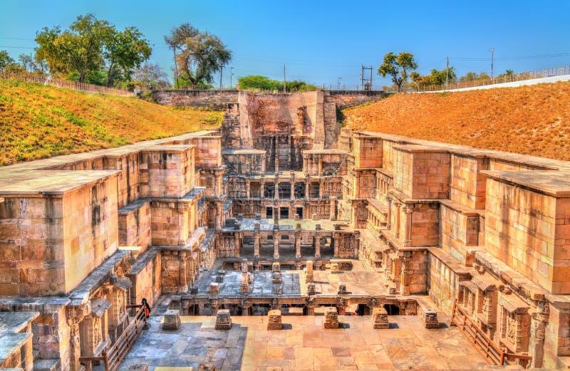 Ranis ki vav, ein verwickelt konstruiertes stepwell in Patan - Gujarat, Indien lizenzfreie stockfotos