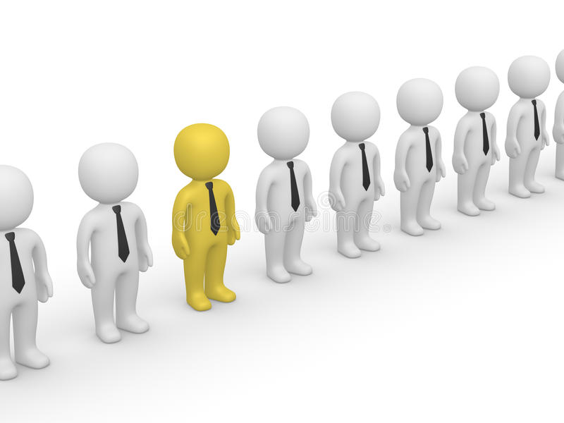 Rank of 3d people. First frame of simple animation vector illustration