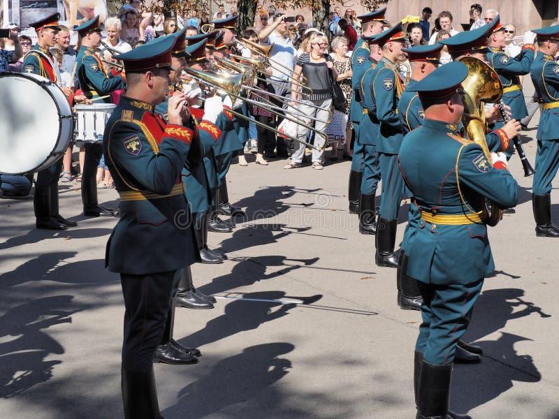Rank trombonists stock photos