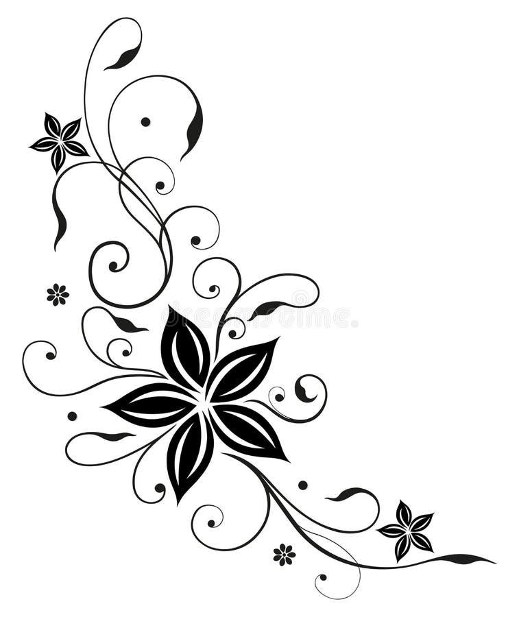 Rankan abstrakt begrepp, blommar royaltyfri illustrationer