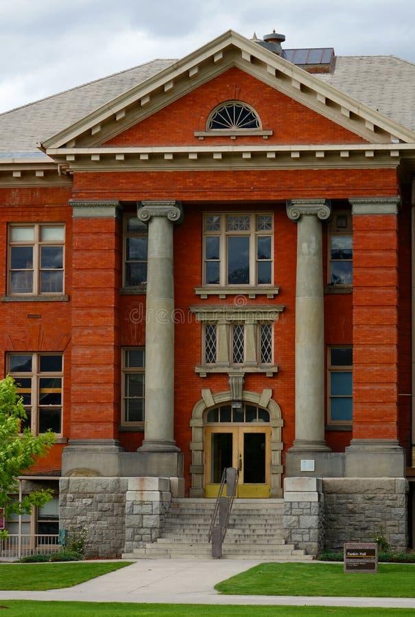 Rankin Hall au Montana depuis 1909 photographie stock
