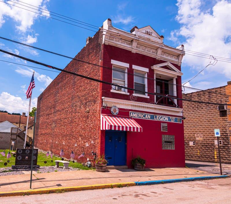 Rankin Pennsylvania, USA 6/29/2019 stolpen 527 för amerikansk legion arkivbilder