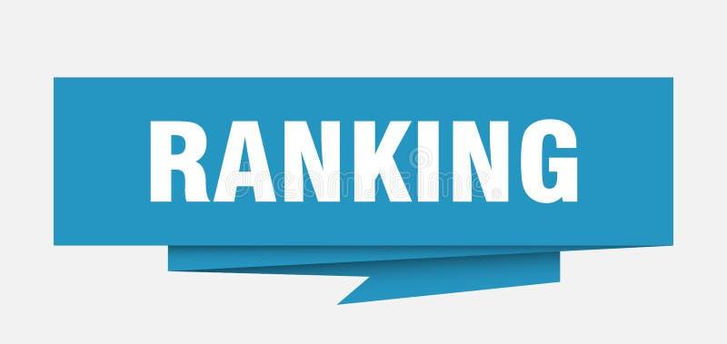 ranking vector illustratie
