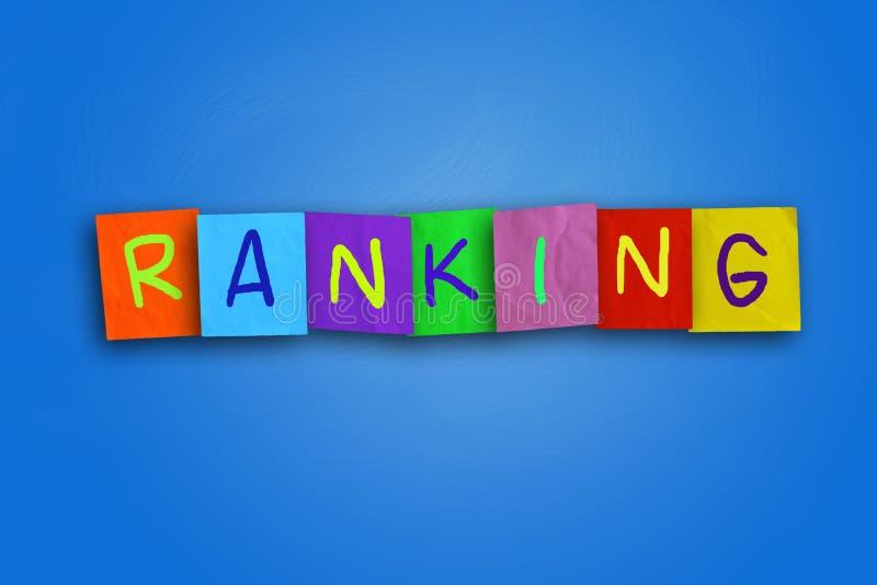 ranking royalty-vrije illustratie