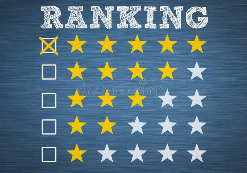 ranking stock illustratie