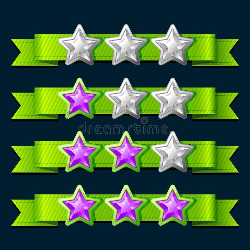 Ranking gry elementy royalty ilustracja