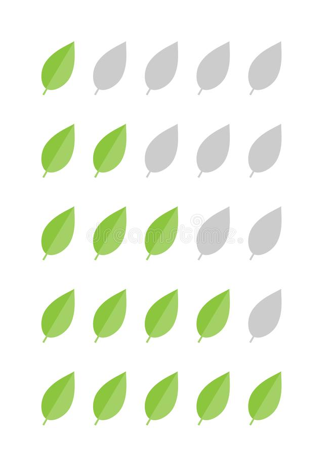Ranking herbaciani liście royalty ilustracja