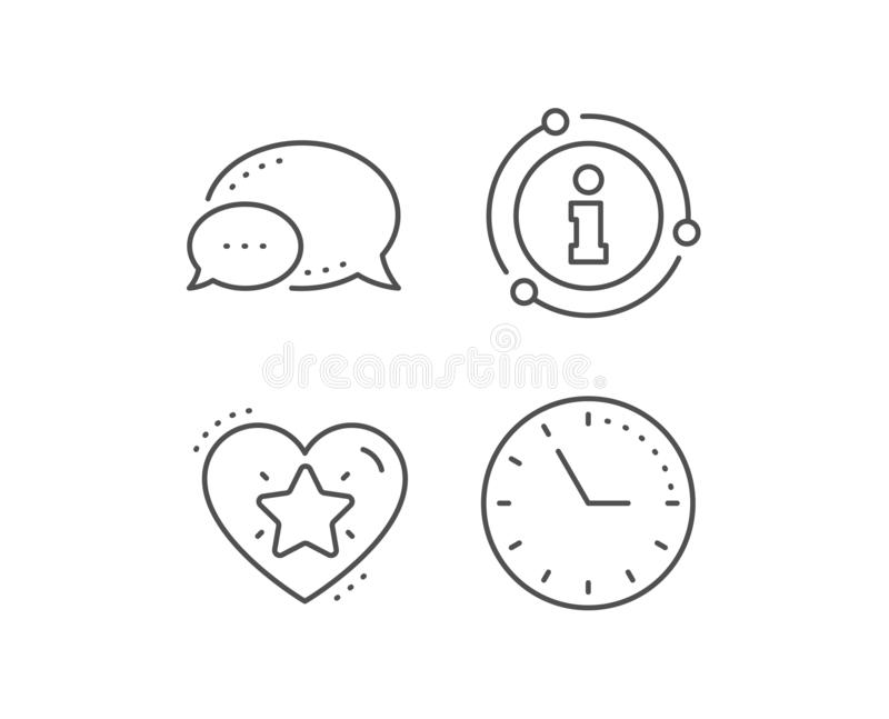 Ranking star line icon. Love rating sign. Best rank. Vector. Ranking star line icon. Chat bubble, info sign elements. Love rating sign. Best rank symbol. Linear stock illustration
