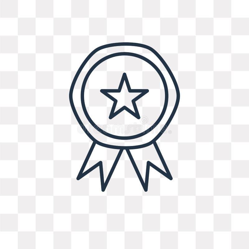 Ranking wektorowa ikona odizolowywająca na przejrzystym tle, liniowy R ilustracja wektor