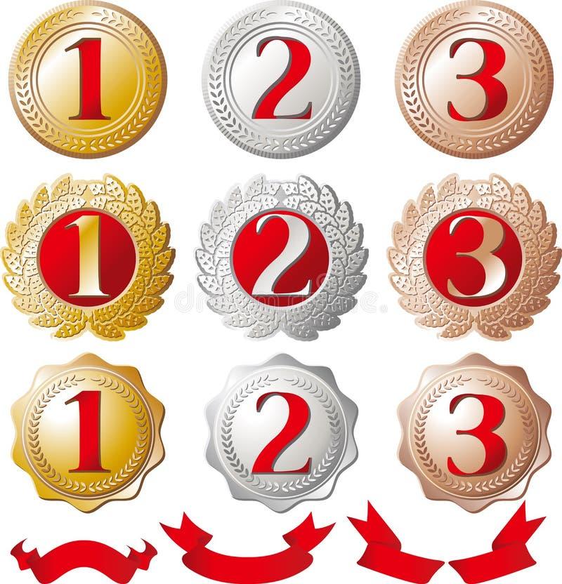 Rankingu medalu set ilustracji
