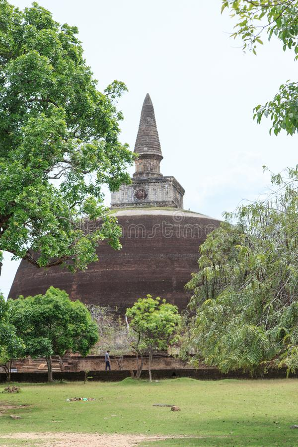 Rankoth Vehera stupa - Polonnaruwa -斯里兰卡古城 免版税库存图片