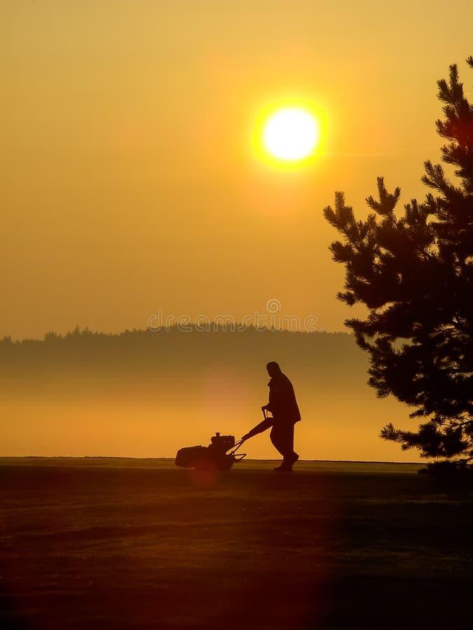 Ranku golfowy pracownik zdjęcie royalty free