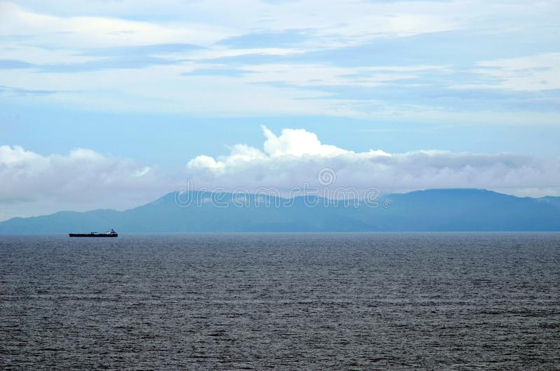 Ranku krajobraz Coiba wyspa, Panama zdjęcie stock