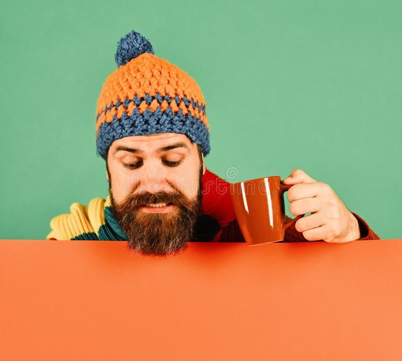 Ranku napój i jesieni pojęcie Sezon jesienny i gorąca kawa zdjęcie stock