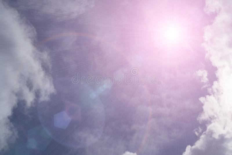 Ranku słońca światło - pomarańczowa gorąca strefa royalty ilustracja