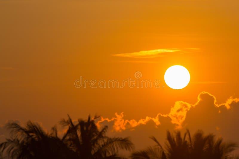 Ranku słońca światło - pomarańczowa gorąca strefa obraz royalty free
