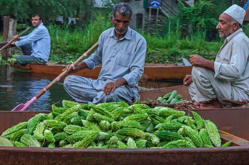 Ranku warzywa rynek na Dal jeziorze obrazy stock