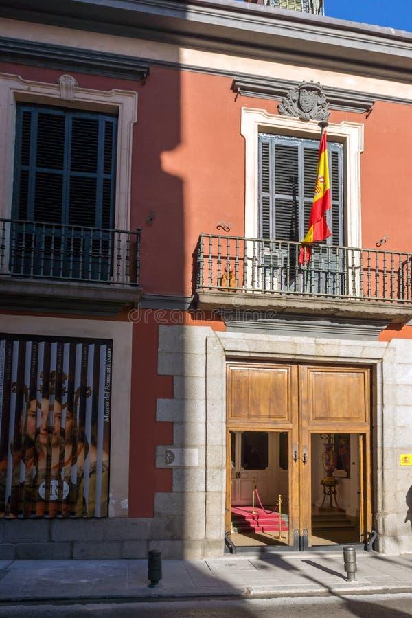 Ranku widok muzeum romantyka w mieście Madryt, Hiszpania fotografia stock