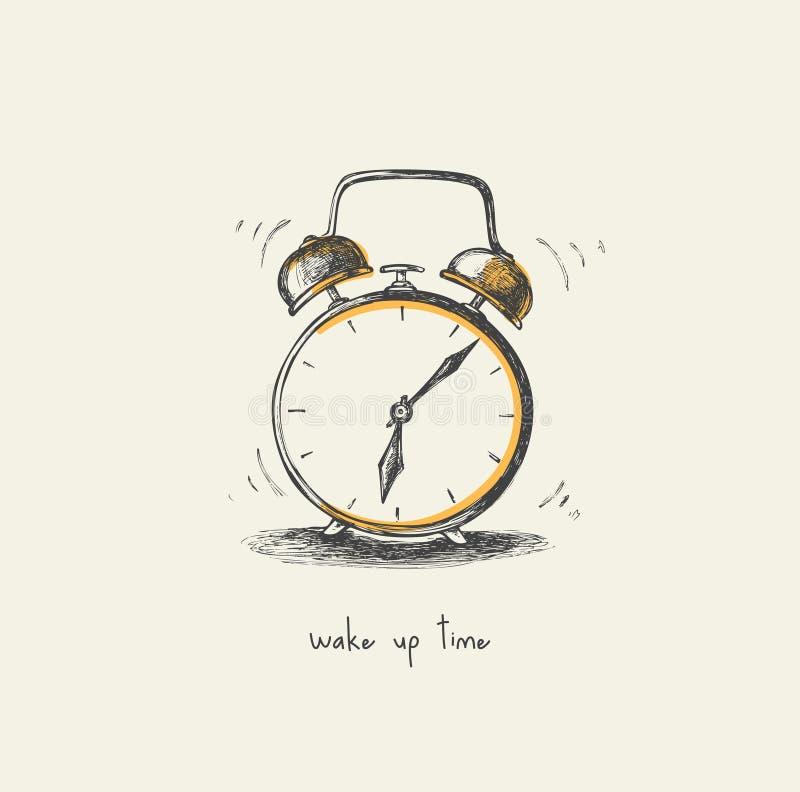 Ranku zegar - rysujący ilustracja wektor