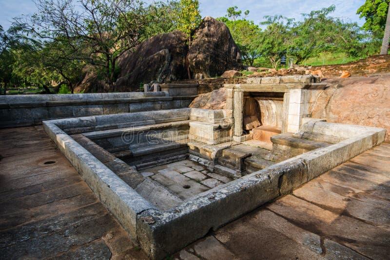 Ranmasu Uyana é um parque em Anuradhapura, Sri Lanka foto de stock