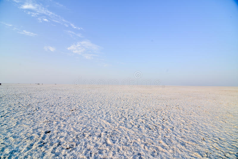Rann of Kutch terrain. With clouds at bhuj near western Indian border stock photos
