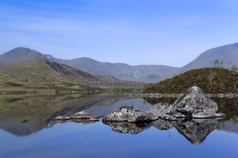 Rannoch amarra montanhas escocesas fotografia de stock royalty free