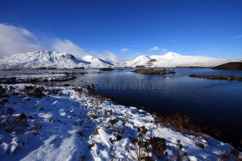 Rannoch Moor Loch royalty free stock photos