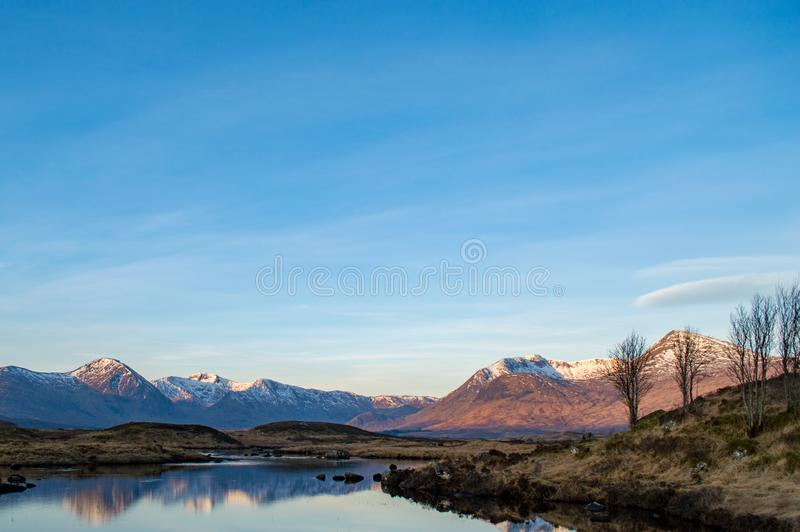 Rannoch Moor in winter royalty free stock photos