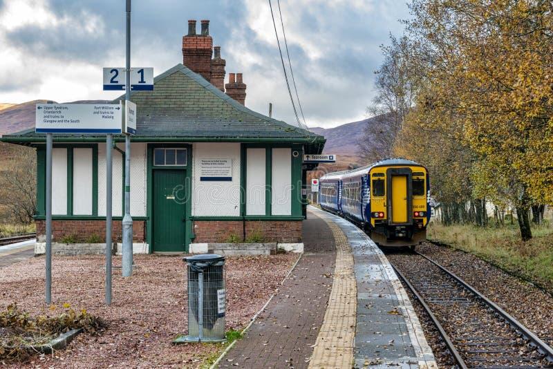 Train at Rannoch Station stock photos