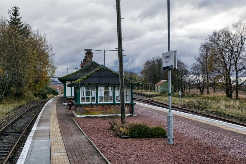Rannoch Train station 4 royalty free stock images