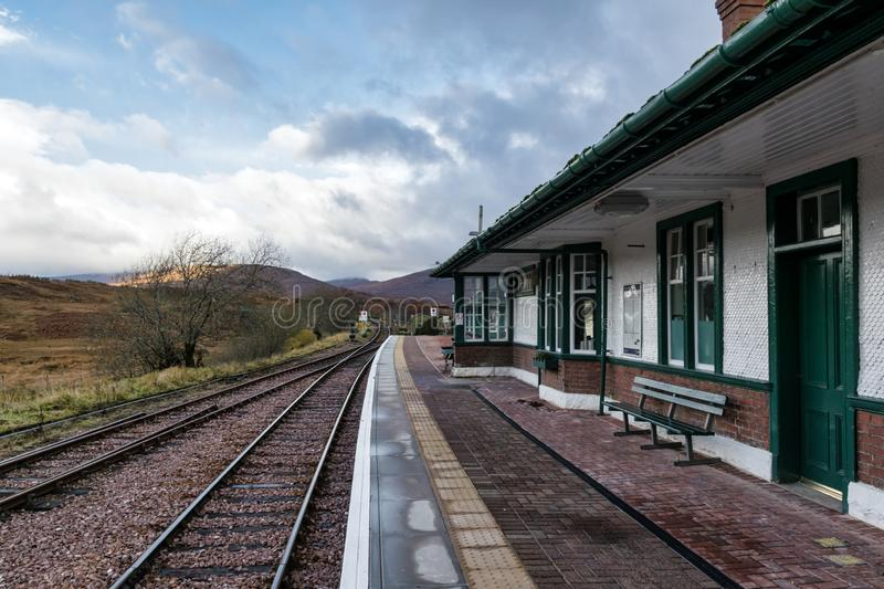 Rannoch Train station royalty free stock images