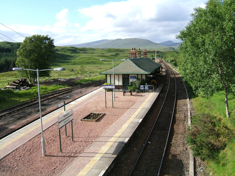 Download Rannoch Station stock photo. Image of fort, transport - 8930220
