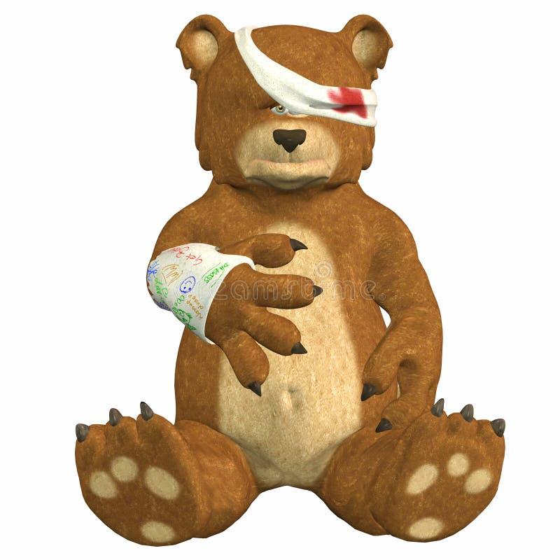 ranny niedźwiedź ilustracja wektor