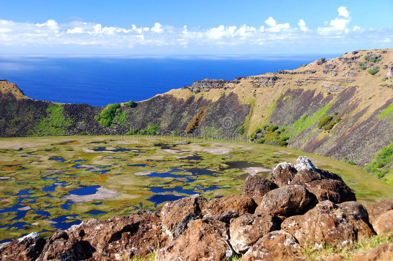 Rano Kau royalty free stock images