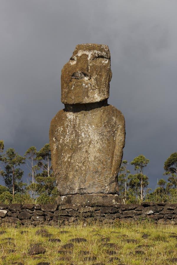Rano Raraku Crater. Easter Island Chile stock photos