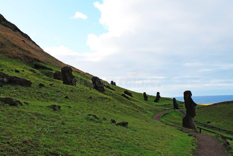 Rano Raraku Tour, Easter Island Chile royalty free stock image