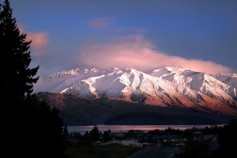 rano słońce gór, obrazy royalty free