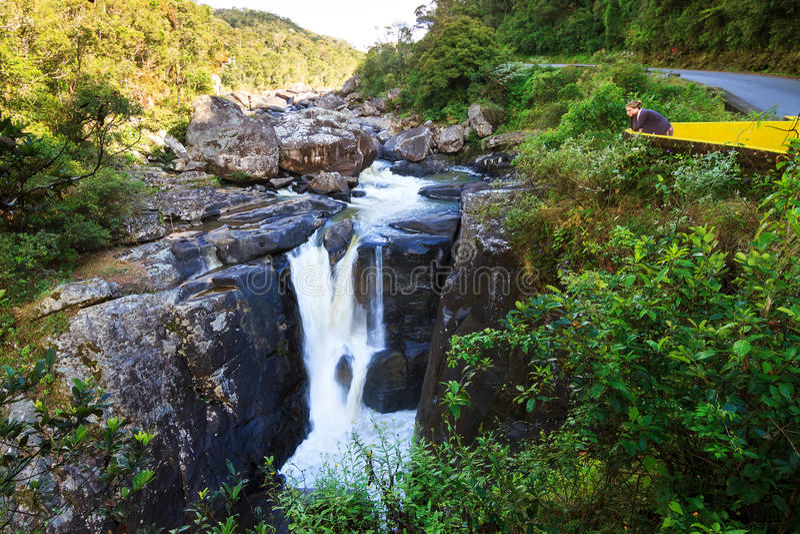 Ranomafana vattenfall royaltyfria foton