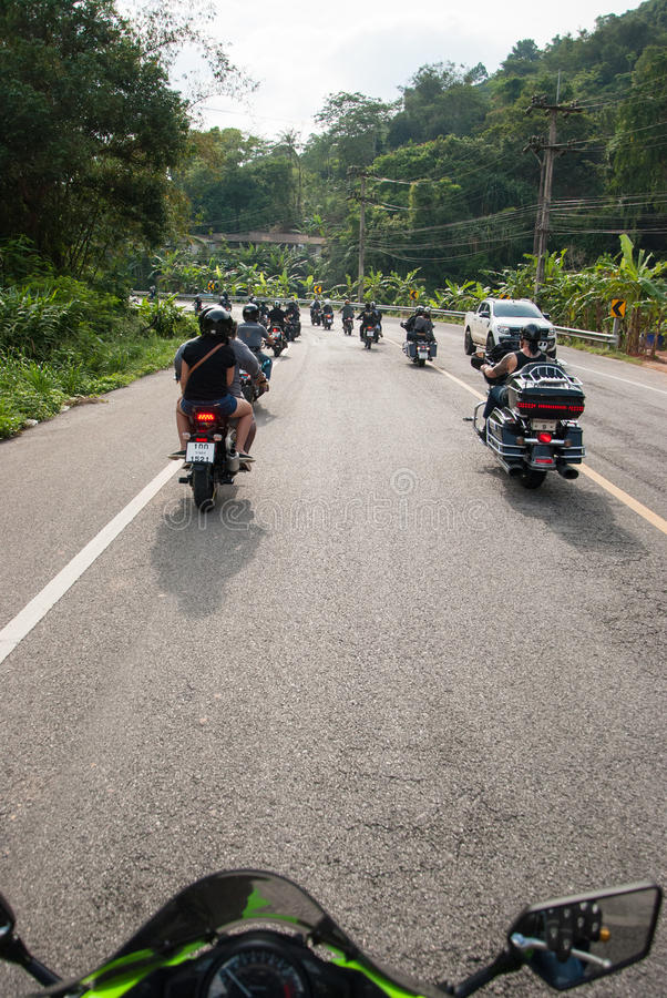 RANONG, TAILANDIA - 29-30 NOVEMBRE: Partecipanti a trentesimo Ranong fotografia stock