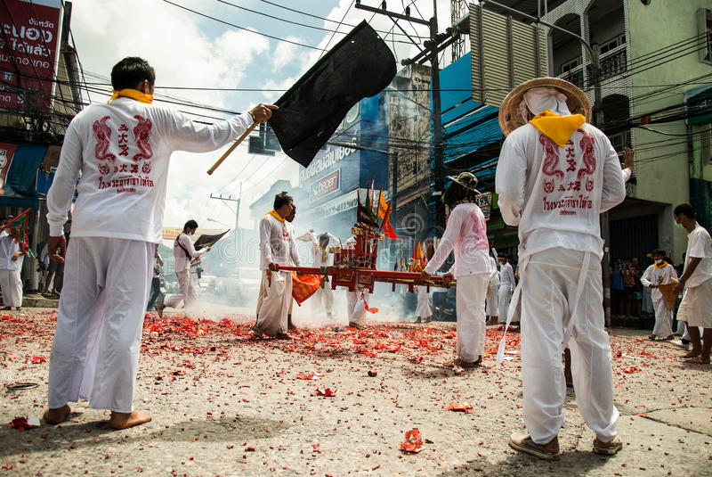 Ranong, TAILANDIA - 5-13 ottobre: fotografie stock