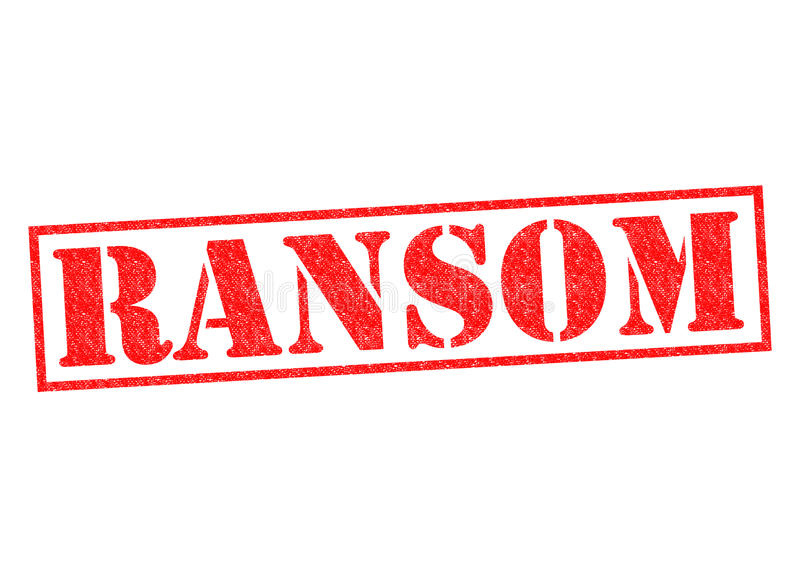 ransom ilustração royalty free