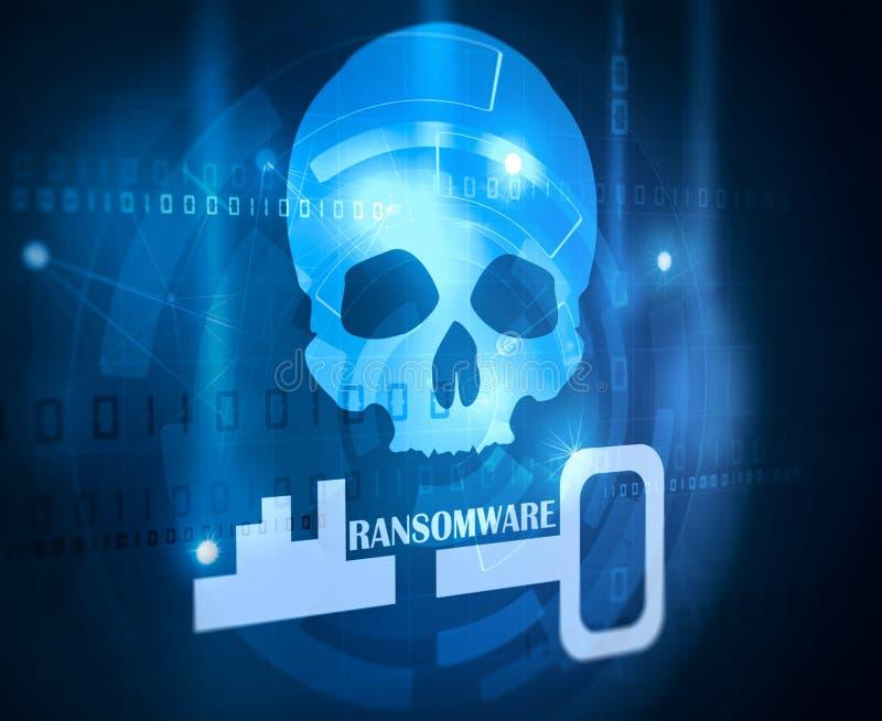 Ransomware概念 库存例证