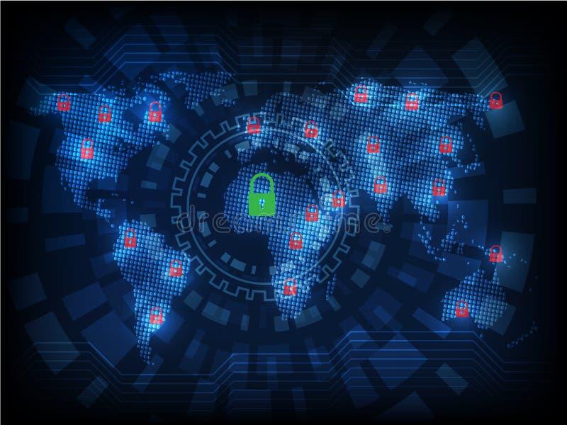 Ransomware предупреждает, технология, secueity кибер, кибернетическое преступление, мамы мира иллюстрация штока