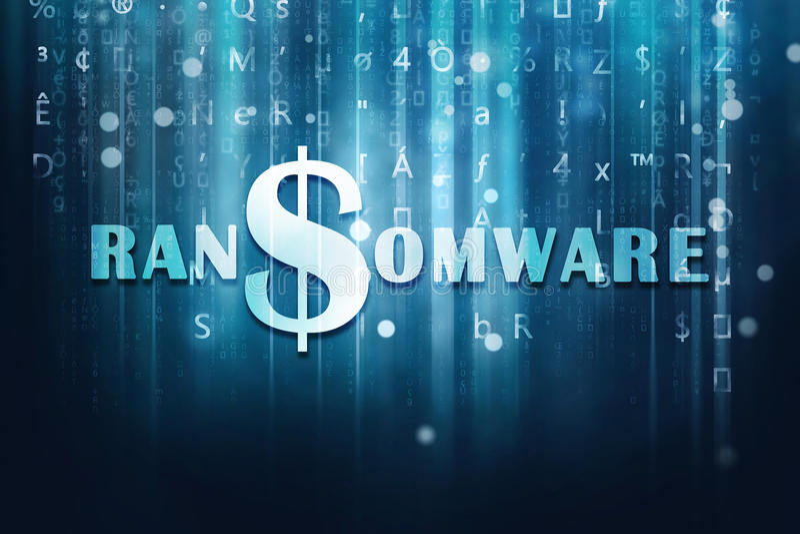 Ransomware illustration libre de droits