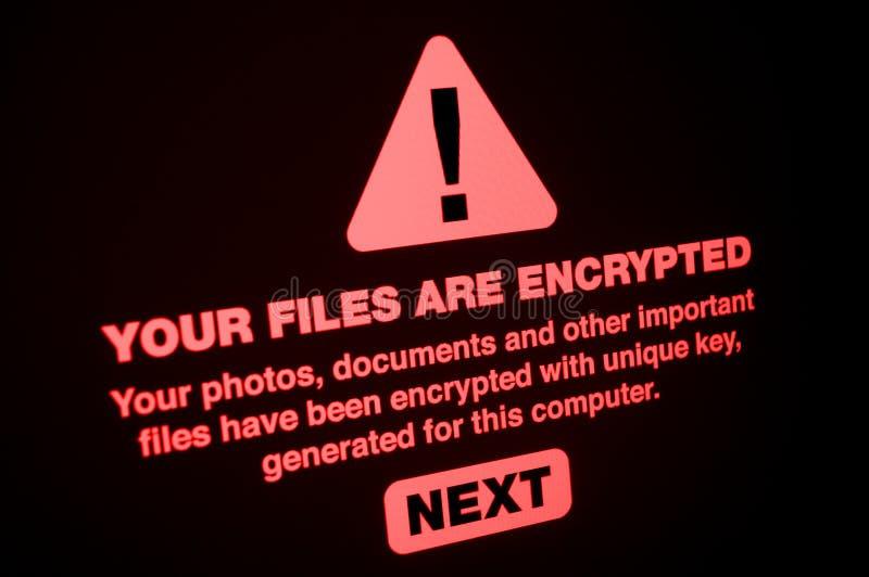 Ransomware imagens de stock