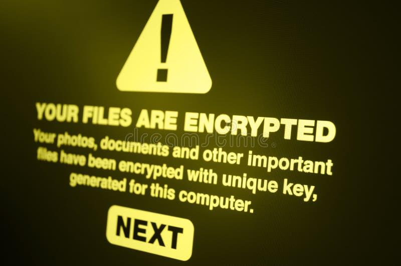 Ransomware foto de stock