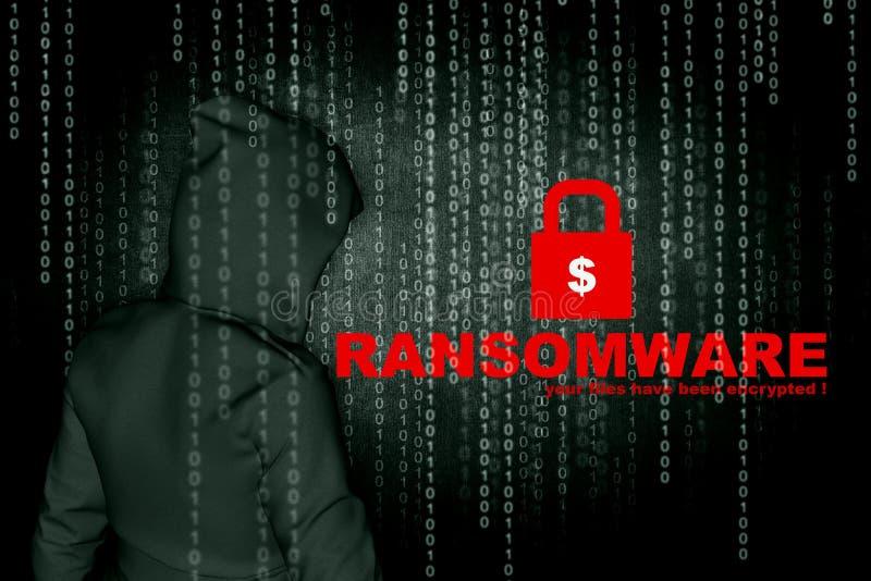 Ransomware ilustración del vector