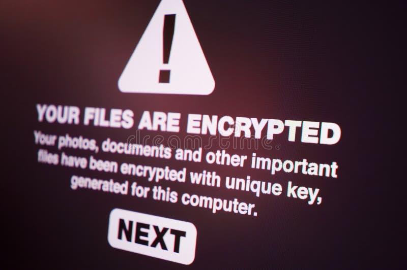 Ransomware imagens de stock royalty free