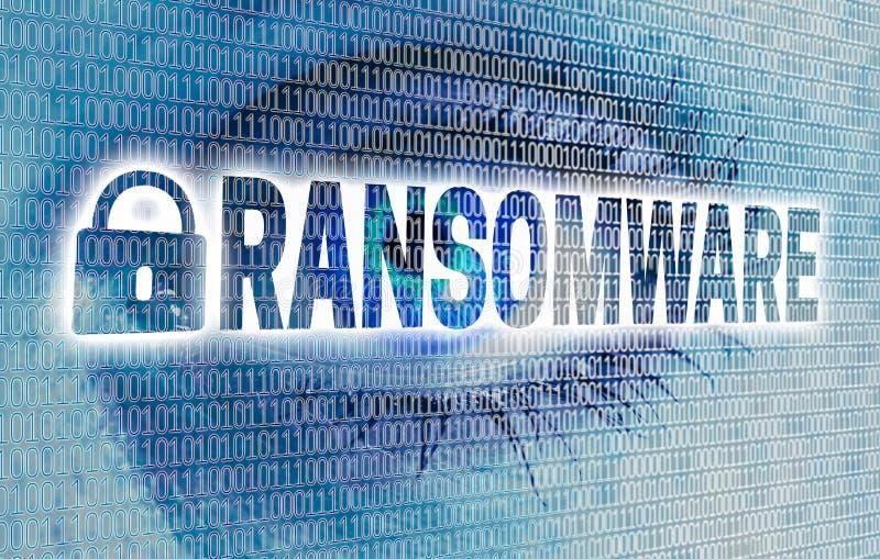 Ransomware-Auge mit Matrix betrachtet Zuschauerkonzept stockfoto